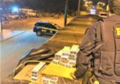 Caminhoneiro é preso com 300 mil maços de cigarros | Divulgação | PRF