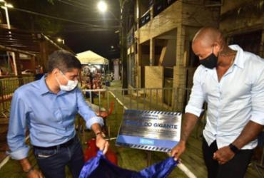 ACM Neto e Léo Santana inauguram 'Praça do Gigante' | Max Haack | Secom