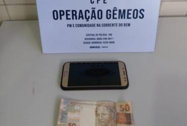 Suspeito de praticar assaltos em ponto de ônibus é preso na capital baiana | Divulgação | SSP-BA