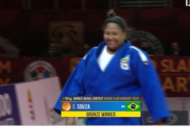 Brasil fecha Grand Slam de Judô de Budapeste com mais 2 bronzes | Reprodução | Time Brasil