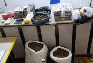 Dupla é atuada com 61 kg de maconha na Estrada do Coco | Foto: Divulgação | SSP
