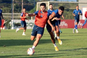 Mano Menezes realiza treino de posse de bola e marcação na Cidade Tricolor | Felipe Oliveira | EC Bahia