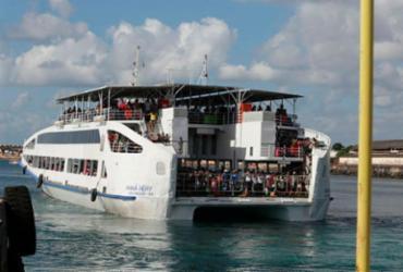 Ferry-Boat registra movimento intenso para veículos e moderado para pedestres | Foto: Tiago Caldas | Ag. A Tarde