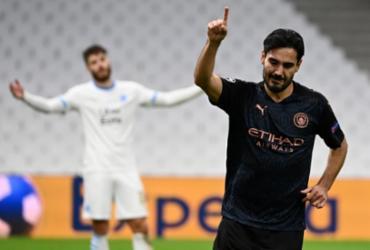 Manchester City vence Olympique pelo Grupo C da Liga dos Campeões | Christophe Simon | AFP