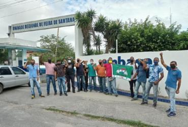 Vigilantes que prestam serviço à Embasa paralisam atividades em Feira de Santana