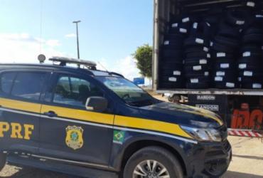 Polícia recupera carga de pneus roubada avaliada em mais de R$ 400 mil