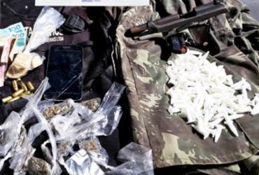 Homem é preso com drogas e arma em São Gonçalo | Divulgação | SSP