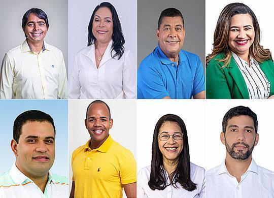 Dr. Pitágoras tem 46% das intenções de voto em Candeias | Montagem A TARDE