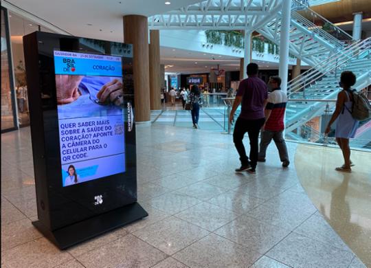 Shoppings de Salvador recebem totens digitais com desfibriladores | Divulgação