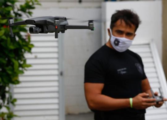 Drones utilizados pela PF podem identificar placas de veículos e entregas de santinhos   Rafael Martins   Ag. A TARDE