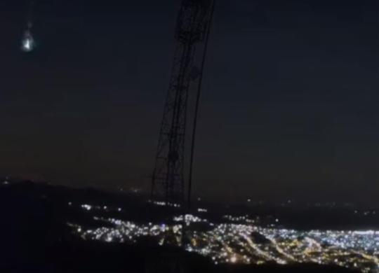 'Bola de fogo' é vista no céu e assusta moradores de cidades baianas | Reprodução | Bramon