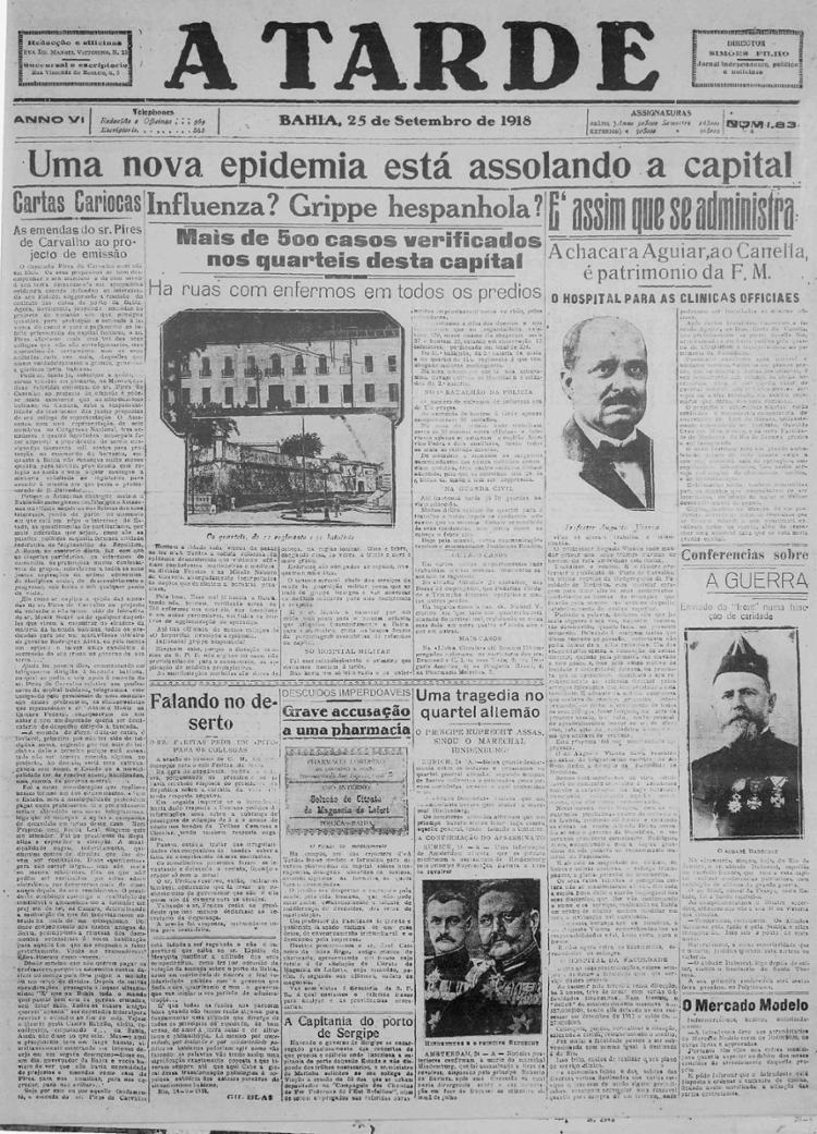 Edição de A TARDE em setembro de 1918