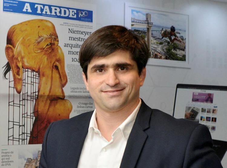 João de Mello Leitão faz parte da quarta geração de gestores do Grupo A TARDE | Foto: Shirley Stolze | Ag. A TARDE - Foto: Shirley Stolze | Ag. A TARDE