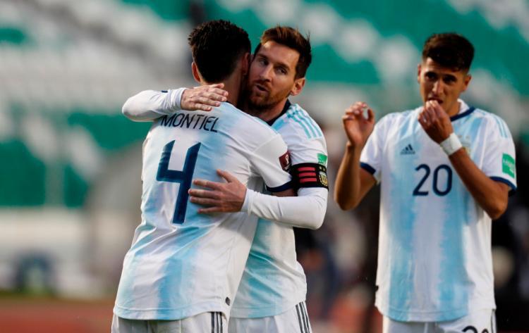 A última vez que o combinado argentino tinha vencido a Bolívia jogando nos 3.600 m de altitude de La Paz foi em 2005 | Foto: Juan Karita | AFP - Foto: Juan Karita | AFP
