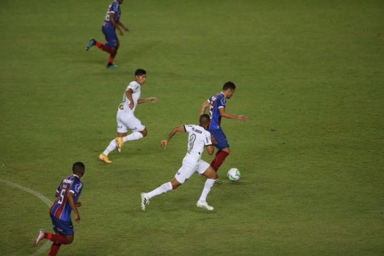 O Tricolor aproveitou bem o contra-ataque no segundo tempo e conseguiu sair vitorioso na partida | Adilton Venegeroles | Ag. A TARDE - Foto: Adilton Venegeroles | Ag. A TARDE