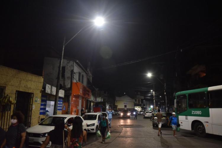 A região teve 554 pontos modernizados em 101 ruas e investimento municipal de R$638 mil para a iniciativa | Foto: Max Haack | Secom - Foto: Max Haack | Secom