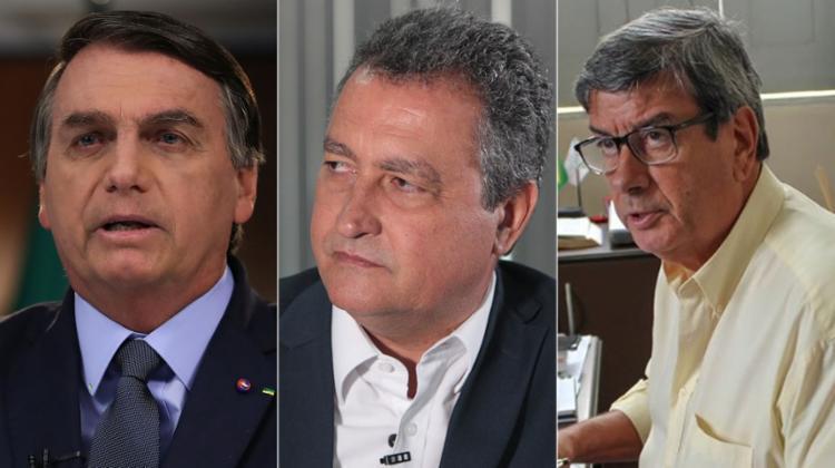36% rejeitam quem tiver apoio de Bolsonaro; Apoio de Rui Costa é o mais relevante; Sobe avaliação positiva da gestão de Colbert | Fotos: Montagem A TARDE - Foto: AFP, Camila Souza | Gov-BA e Divulgação | Ascom