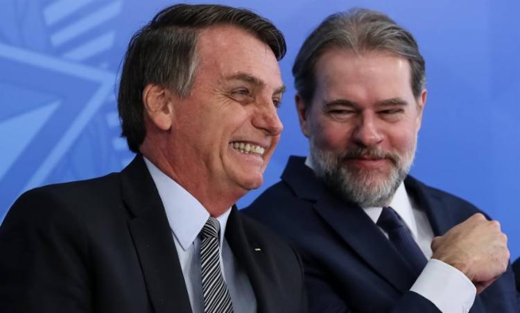 Segundo informações da Folha de S. Paulo, Toffoli disse que convidou Bolsonaro para assistir ao jogo do Palmeiras | Foto: Marcos Côrrea | PR - Foto: Marcos Côrrea | PR