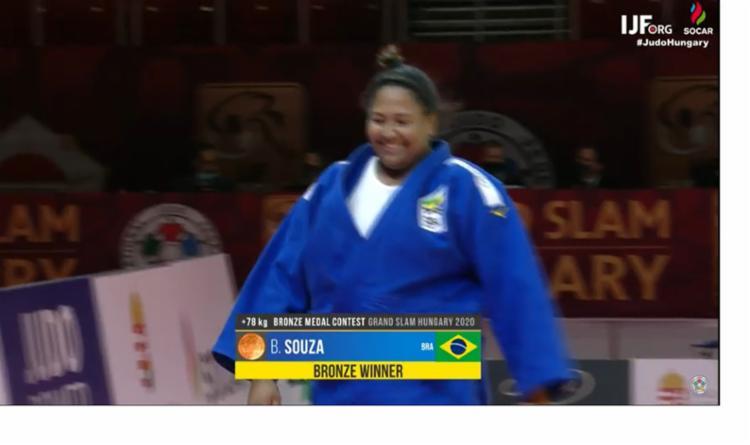 No peso-pesado, Maria Suelen e Beatriz Souza vão ao pódio | Foto: Reprodução | Time Brasil - Foto: Reprodução | Time Brasil