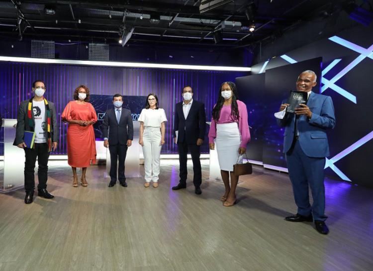 Debate da TV Band, no último dia 1º, segue sendo o único realizado na capital até o momento - Foto: Ulisses Dumas | Band Bahia | 01.10.2020