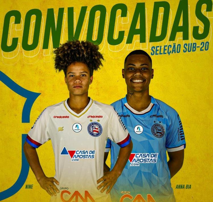 Jogadoras foram convocadas pela segunda oportunidade | Foto: Reprodução | E.C.Bahia - Foto: Reprodução | E.C.Bahia