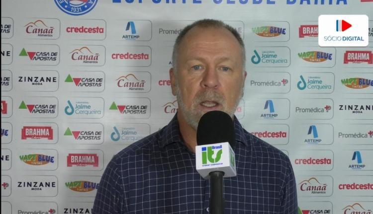 Treinador falou sobre a importância de rodar o time | Foto: Reprodução | E.C.Bahia - Foto: Reprodução | E.C.Bahia