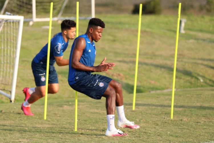 A preparação visa o duelo desta sexta-feira, 16, contra o Goiás, no estádio da Serrinha, em Goiânia   Foto: Felipe Oliveira   EC Bahia - Foto: Felipe Oliveira   EC Bahia