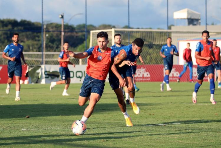A preparação visa o retorno da equipe na Copa Sul-Americana, contra o Melgar-PER, na próxima quinta | Foto: Felipe Oliveira | EC Bahia - Foto: Felipe Oliveira | EC Bahia