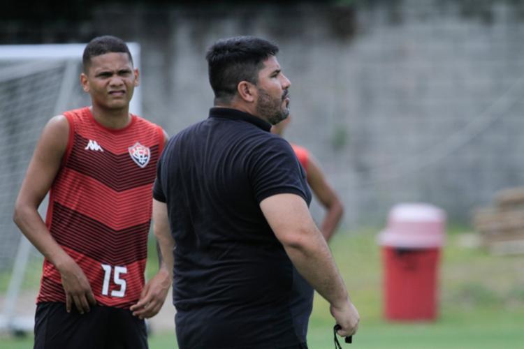 O treinador cobrou bastante a saída de bola, marcação pressão e transição | Foto: Letícia Martins | EC Vitória - Foto: Letícia Martins | EC Vitória