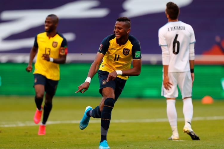 Na tabela de classificação, os equatorianos possuem 3 pontos em dois jogos   Foto: Jose Jacome   AFP - Foto: Jose Jacome   AFP