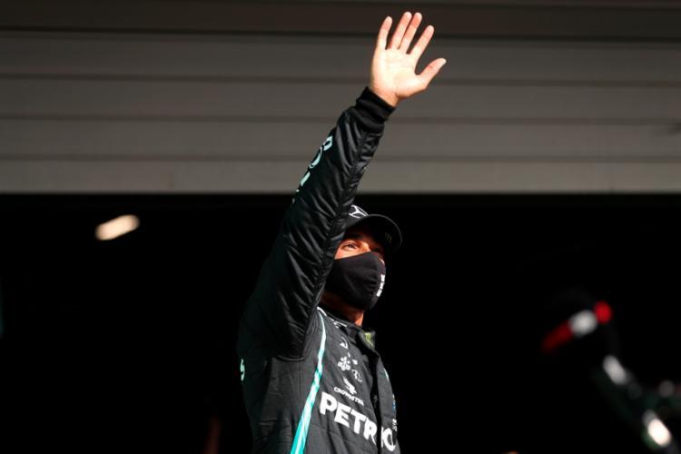 Hamilton largará pela 97ª vez na carreira na primeira posição do grid | Foto: Jose Sena Goulao | AFP - Foto: Jose Sena Goulao | AFP