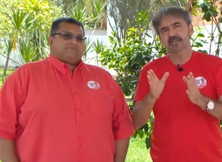Candidato a vice, Dr. Antônio (à esquerda), teve candidatura impugnada - Foto: Reprodução