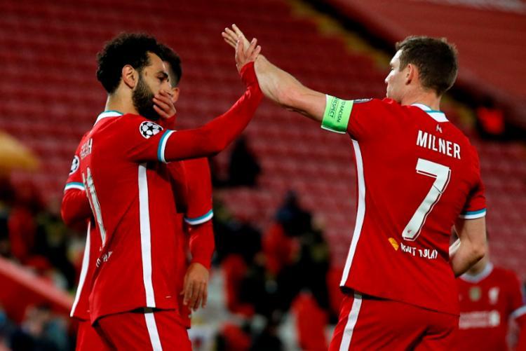 Salah marcou nos acréscimos e deu números finais à vitória dos ingleses   Foto: Phil Noble   AFP - Foto: Phil Noble   AFP