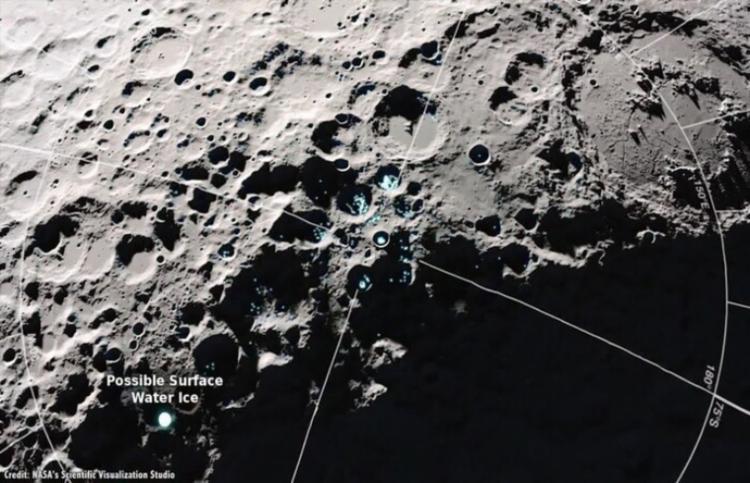 A água encontrada na Lua foi vista pela Nasa como um recurso potencial | Foto: Divulgação | Nasa - Foto: Foto: Divulgação | Nasa