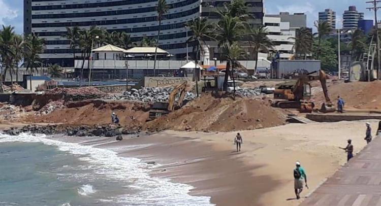 MPF quer saber se obras da prefeitura foram previamente autorizadas e se oferecem danos à natureza   Foto: Cidadão Repórter   via WhatsApp - Foto: Cidadão Repórter   via WhatsApp