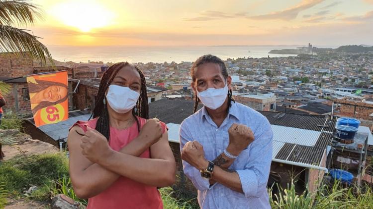 Durante uma conversa com os moradores, nesta sexta-feira, 30, Olívia Santana falou sobre o seu projeto Favela Importa | Foto: Divulgação - Foto: Divulgação