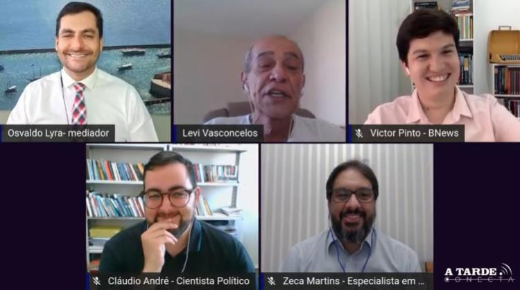 Segunda rodada do levantamento da A TARDE / Potencial Pesquisa da corrida eleitoral de Salvador foi tema de uma mesa-redonda - Foto: Divulgação