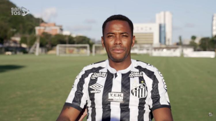 Robinho rescindiu o contrato com Santos após patrocínios cancelados - Foto: Divulgação