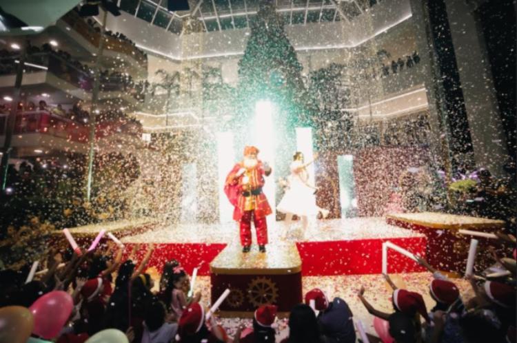 O Papai Noel vai desembarcar no domingo, 25, de um jeito muito especial   Foto: Divulgação   Shopping Bela Vista - Foto: Foto: Divulgação   Shopping Bela Vista