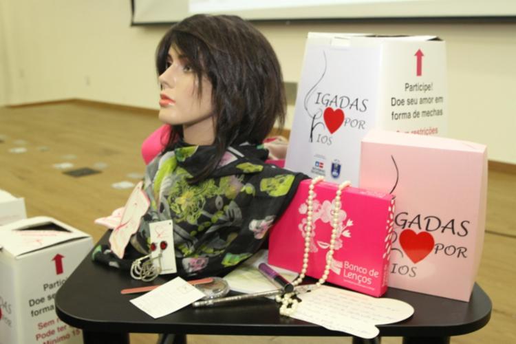 Itens serão distribuídos para mulheres vítimas de câncer de mama | Foto: Divulgação | SSP - Foto: Divulgação | SSP