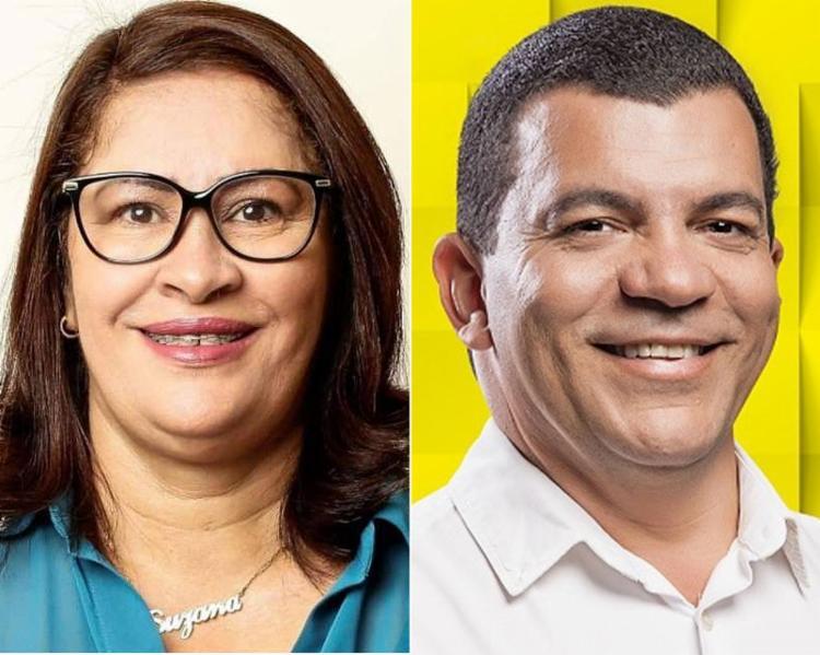 Suzana Ramos, candidata do PSDB; Paulo Bomfim concorre pelo PT | Foto: Divulgação | Montagem A TARDE - Foto: Divulgação | Montagem A TARDE