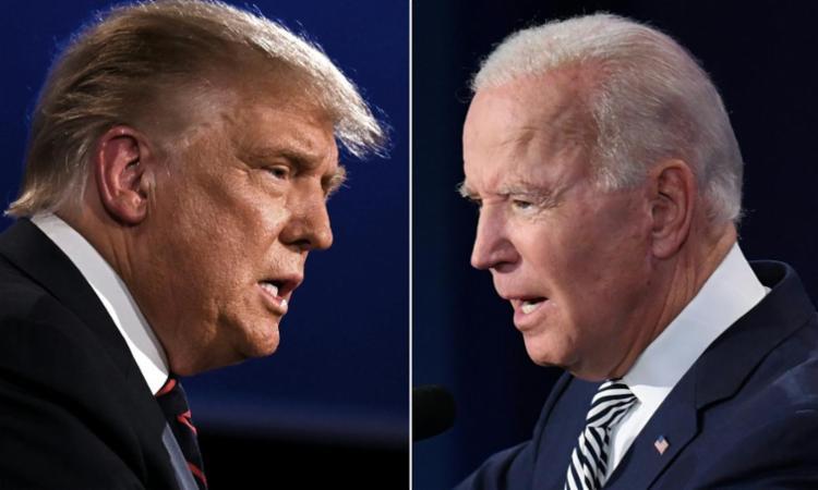 Nas últimas pesquisas divulgadas a vantagem é do democrata Biden - Foto: Arquivo | AFP