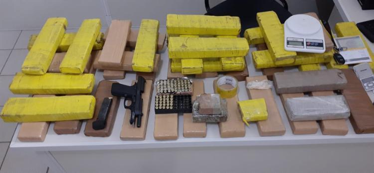 Material foi encontrado dentro de uma casa em Vitória da Conquista | Foto: Divulgação | SSP - Foto: Divulgação | SSP