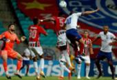 Desfalcado, Bahia perde para o São Paulo e cai a invencibilidade na Fonte | Foto: Felipe Oliveira / EC Bahia