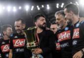 Técnico do Napoli, Gattuso lamenta por não ter dado carrinho em Maradona | Foto: Fillipo Monteforte | AFP