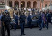 Termina velório aberto ao público e caixão de Maradona será retirado da Casa Rosada | Foto: Juan Mabromata | AFP