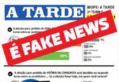 Falsa pesquisa sobre a eleição em Feira atribuída ao A TARDE circula nas redes sociais | Foto: Reprodução