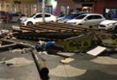 Estrutura de barraca desaba no Rio Vermelho e quatro ficam feridos | Foto: Divulgação | CBMBA
