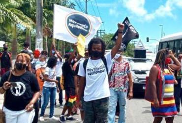 Grupo protesta contra racismo em mercado de Lauro de Freitas | Divulgação | Movimento Aquilombar