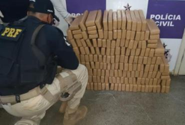 Mais de 200 kg de maconha prensada é encontrada em Itabuna